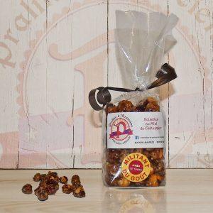 Pralines aux noisettes et miel de châtaignier 150 grs