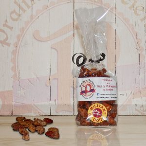 Pralines aux amandes au miel de châtaignier 150 grs