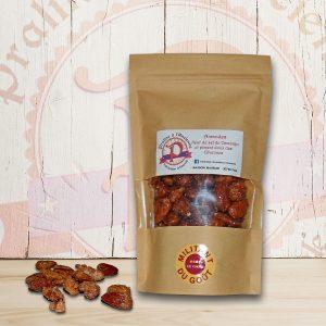 Pralines aux amandes, piment doux des Cévennes,Fleur de sel de Camargue